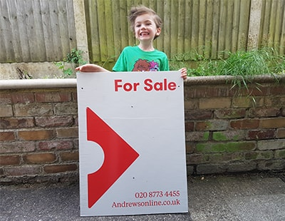 Agency chain responds to young fan of estate agents' boards