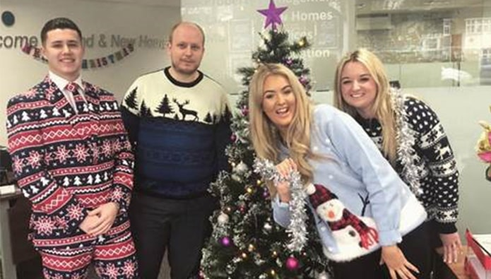 Jumper to it! Agents wear it well as they celebrate Christmas
