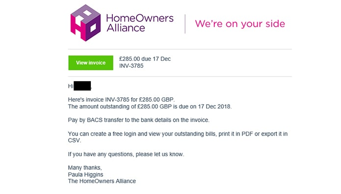 Agents beware! Hack emails sent from HomeOwners Alliance address