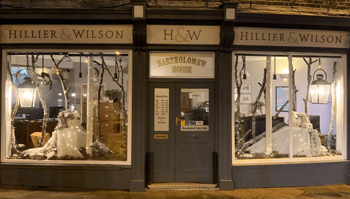 Is this the prettiest estate agency Christmas display so far?