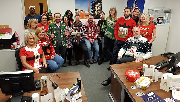 Christmas jumpers (and a jacket) plus more festive offices