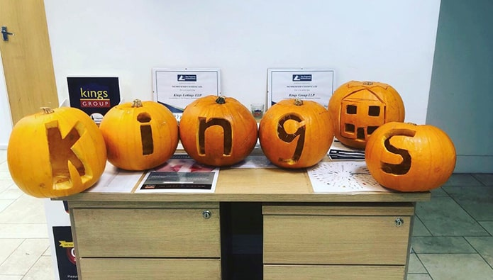 Halloween - and look what this agent has done with her pumpkins...