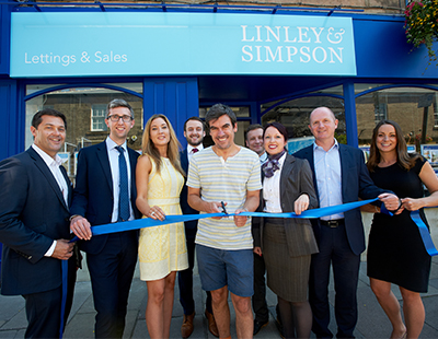 Soap star cuts tape to open estate agency's new flagship office
