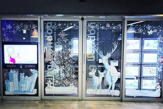 It's December! Can your office match this stunning Christmas window?