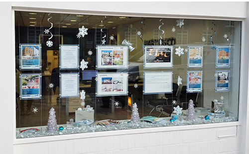 Outside looking in - more great estate agency office Christmas pictures