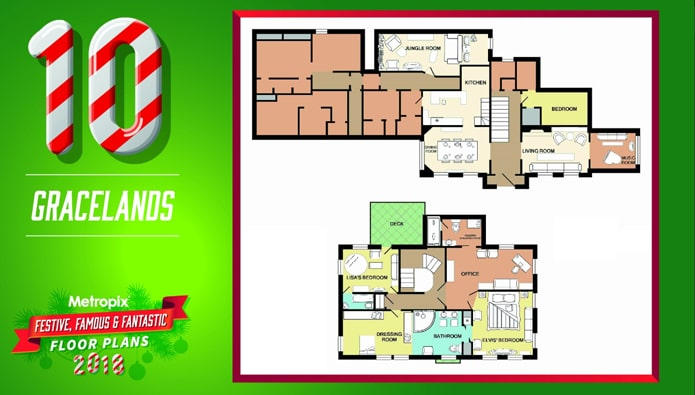 Festive floorplans? Yes really - and you'll recognise the houses...