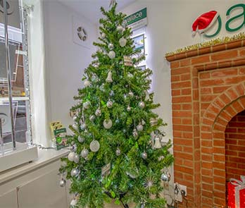Tree-mendous! More Christmas agency office pictures...