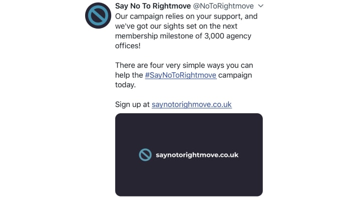 Say No To Rightmove launches social media recruitment drive