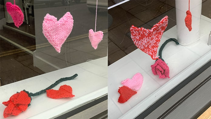 Valentine's Day - and we love this agent's hand-made decorations