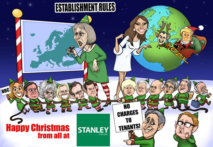 Boris, Corbyn, Trump and co - one agency's REALLY unusual Christmas card