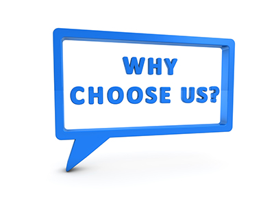 Why choose us? Why indeed!